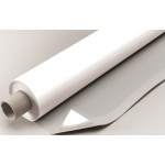 "Alvin® VYCO Gray/White Board Cover 42"" x 10yd: Black/Gray, White/Ivory, Roll, Vinyl, 42"" x 10 yd, (model VBC77/42), price per roll"