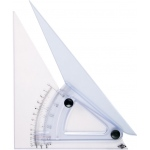 "Alvin® 12"" Computing Trig-Scale Adjustable Triangle: Adjustable, Clear, Acrylic, 12"", Triangle"