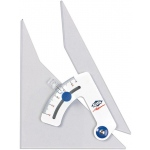 "Alvin® Tru-Angle™ 8"" Adjustable Triangle with Inking Edge: Adjustable, Clear, Acrylic, 8"", Triangle"