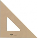 "Alvin® 8"" Professional Topaz Tint Triangle 45°/90°: 45/90, Brown, Acrylic, 8"", Triangle"