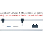 Alvin® Channel Beam Bar Compass Bar Slide Assembly: Replacement Part, Compass/Divider, (model 61D), price per each