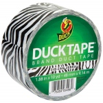 Duck Tape® Zebra Stripes Tape (Roll): Multi, Roll, 10 yd, Pattern, (model DT1398132), price per each