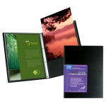 "Itoya® Art Profolio® Advantage 8.5"" x 11"" Presentation/Display Book: Black/Gray, Polypropylene, 24 Pages, 8 1/2"" x 11"""