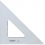 "Alvin® 12"" Academic Transparent Triangle 45°/90°: 45/90, Clear, Polystyrene, 12"", Triangle, (model S1450-12), price per each"