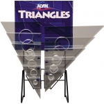 Alvin® C-Series Triangles Display: Clear, Triangle, (model 1143DCH), price per each