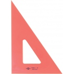 "Alvin® 10"" Fluorescent Triangle 30°/60°: 30/60, Orange, Polystyrene, 10"", Triangle, (model FT390-10), price per each"
