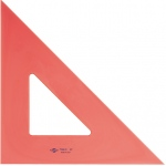 "Alvin® 10"" Fluorescent Triangle 45°/90°: 45/90, Orange, Polystyrene, 10"", Triangle, (model FT450-10), price per each"