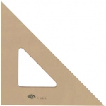"Alvin® 12"" Professional Topaz Tint Triangle 45°/90°: 45/90, Brown, Acrylic, 12"", Triangle"