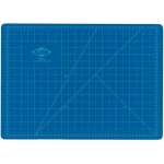 "Alvin® HM Series Blue/Gray Self-Healing Hobby Mat 3 1/2 x 5 1/2: Black/Gray, Blue, Grid, Vinyl, 3 1/2"" x 5 1/2"", 2mm, Cutting Mat"