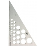 "Fairgate® 12"" Aluminum Triangle 30/60: 30/60, Clear, Aluminum, 12"", Triangle"