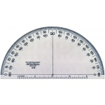 "Westcott® C-Thru® Transparent 6"" Semicircular Protractor: Clear, Plastic, 6"", Protractor, (model 376), price per each"