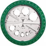 "Helix® Angle and Circle Maker: 4"", Protractor, (model H36002), price per each"