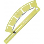 "Acu-Arc® Adjustable Ruler Inches: Green, Plastic, 6 3/8"" to 200"", Curve, (model A464), price per each"