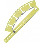 Acu-Arc® Adjustable Ruler Centimeters: Green, Plastic, 17 cm - 500 cm, Curve, (model A464M), price per each