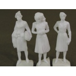 "Wee Scapes™ Architectural Model Human Figures - 1/2"" Female 3-Pack: White/Ivory, 3-Pack, 1/2"", People, (model WS00372), price per 3-Pack"