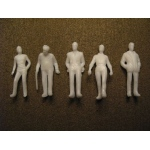 "Wee Scapes™ Architectural Model Human Figures Male 1/4"" 5-Pack: White/Ivory, 5-Pack, 1/4"", People, (model WS00373), price per 5-Pack"