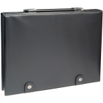 "Prestige™ The Crusher Presentation Case 8.5"" x 11"": Black/Gray, Vinyl, 8 1/2"" x 11"""
