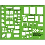 "Alvin® Interior Design – Kitchen Bed & Bath Template: 1/4"" = 1', (model TD7161), price per each"