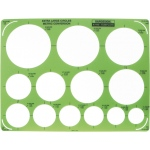 "Rapidesign® Extra Large Circles Template: 1 1/4"" - 3 1/2"", (model 440R), price per each"