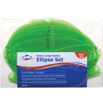 "Alvin® Extra Large Series Ellipse Template Set: 12-Pack, 4"" - 10"", (model 3903-96), price per set"