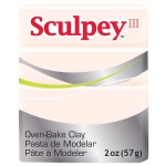 Sculpey® III Polymer Clay Beige: Brown, White/Ivory, Bar, Polymer, 2 oz, (model S302093), price per each