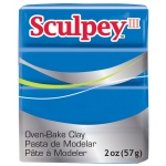 Sculpey® III Polymer Clay Blue: Blue, Bar, Polymer, 2 oz, (model S302063), price per each