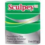 Sculpey® III Polymer Clay Emerald: Green, Bar, Polymer, 2 oz