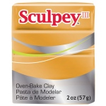 Sculpey® III Polymer Clay Gold: Metallic, Bar, Polymer, 2 oz, (model S3021086), price per each