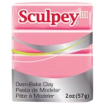 Sculpey® III Polymer Clay Hot Pink: Red/Pink, Bar, Polymer, 2 oz, (model S302503), price per each