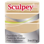 Sculpey® III Polymer Clay Tan: Brown, Bar, Polymer, 2 oz, (model S302301), price per each