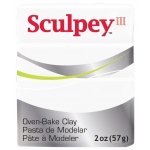 Sculpey® III Polymer Clay White: White/Ivory, Bar, Polymer, 2 oz, (model S302001), price per each