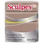 Sculpey® III Polymer Clay Hazelnut: Brown, Bar, Polymer, 2 oz, (model S3021657), price per each