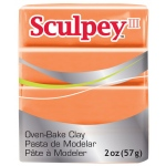 Sculpey® III Polymer Clay Just Orange: Orange, Bar, Polymer, 2 oz