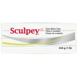 Sculpey® III Oven-Bake Clay White: White/Ivory, 1 lb, Oven Bake