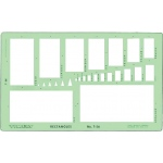 "Timely® Rectangles Template: 1/16"" x 1/8"" - 2 3/8"" x 4 3/4"", (model 56T), price per each"
