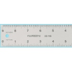 "Fairgate® 12"" Eluxite Aluminum Centering Ruler: Metallic, Aluminum, 12"", Gauge, (model RC12), price per each"