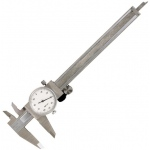 "General® 6"" Dial Caliper: Metallic, Steel, 6"", Caliper, (model G107), price per each"