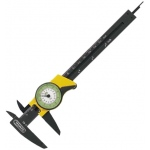 "General® 6"" Precision Swiss Dial Caliper: Black/Gray, Plastic, 6"", Caliper, (model 80D), price per each"