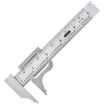 "General® 5"" Pocket Slide Caliper: Metallic, Steel, 4"", Manual, Caliper, (model V729), price per each"