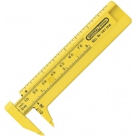 "General® 3"" Pocket Caliper: Yellow, Plastic, 3"", Manual, Caliper, (model G141ME), price per each"
