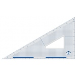 "Alvin® 10"" Cutting Edge Triangle 30°/60°: 30/60, Clear, Acrylic, 10"", Triangle"