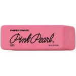 Pink Pearl® Medium Erasers: Rubber, 24-Box, Manual, (model 100FC), price per 24-Box box
