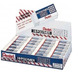 Pentel® Hi-Polymer® Lead Eraser Display: Manual, (model ZEH05D), price per box