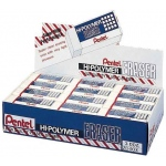 Pentel® Hi-Polymer® Hi-Polymer Eraser Display: Plastic, Manual, (model ZEH10D), price per box