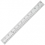 "Alvin® 12"" Flexible Stainless Steel Ruler: Metallic, Steel, 12"", General Purpose, (model R590-12), price per each"