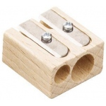 Alvin® Beechwood Sharpener Display: Two, Wood, Manual, (model 4110ND), price per pack
