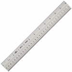 "Alvin® 12"" Aluminum Ruler: Metallic, Aluminum, 12"", Ruler, (model AS07-12), price per each"
