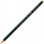 Faber-Castell® 9000 Black Lead Pencil HB: Black/Gray, HB, (model FC119000), price per dozen (12-pack)