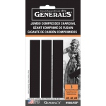 General Jumbo Compressed Charcoal Sticks