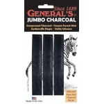 General Extra-Soft Compressed Charcoal Sticks